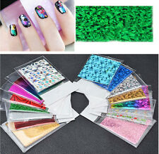 50x Nail Art Transfer Foil Decal Wraps Glitter Color Sticker Decal Polish Decor
