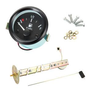 52mm-Jauge-Manometre-Capacite-d-039-huile-Carburant-Essence-E-1-2-F-Pointer