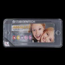Dental Orthodontic Roth 022 Sapphire Ceramic Brackets Monocrystal 345 With Hooks