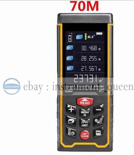 SW-S70 USB angle Rechargeabel Color 70M Laser distance meter rangefinder