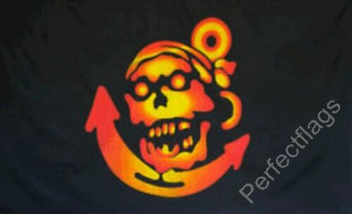 SKULL AND PIRATE FLAGS PIRATE ANCHOR FLAG Size 5x3 Feet