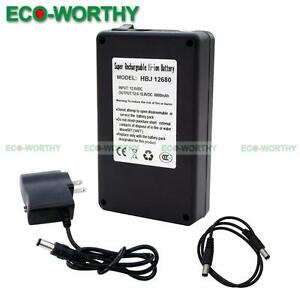 12 Volt 6800mAh Rechargeable Li-ion Battery Pack Charger ...