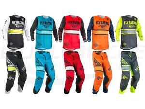 Fly Racing Kinetic Outlaw Jersey Pant Combo Set MX Riding Gear MX//ATV Motocross