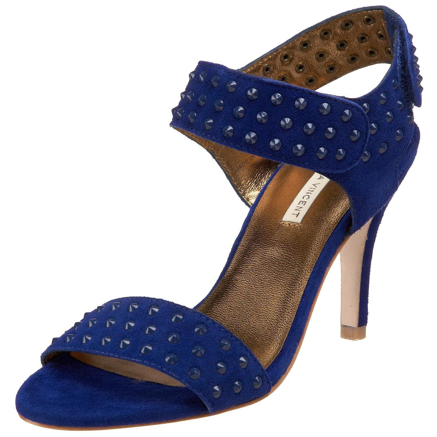 New in Box Cynthia Vincent Femme Bailey Cheville Wrap Sandale, couleur Cobalt, Taille 6.5 M US