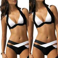 Gr. 34 36 38 40 Sexy Damen Push-Up Swimwear Bikini Bademode Badeanzug Strand Neu