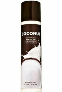 Bath & Body Works COCONUT Milk Moisture Mist w/Coconut Oil & Cocoa Butter 8 oz.