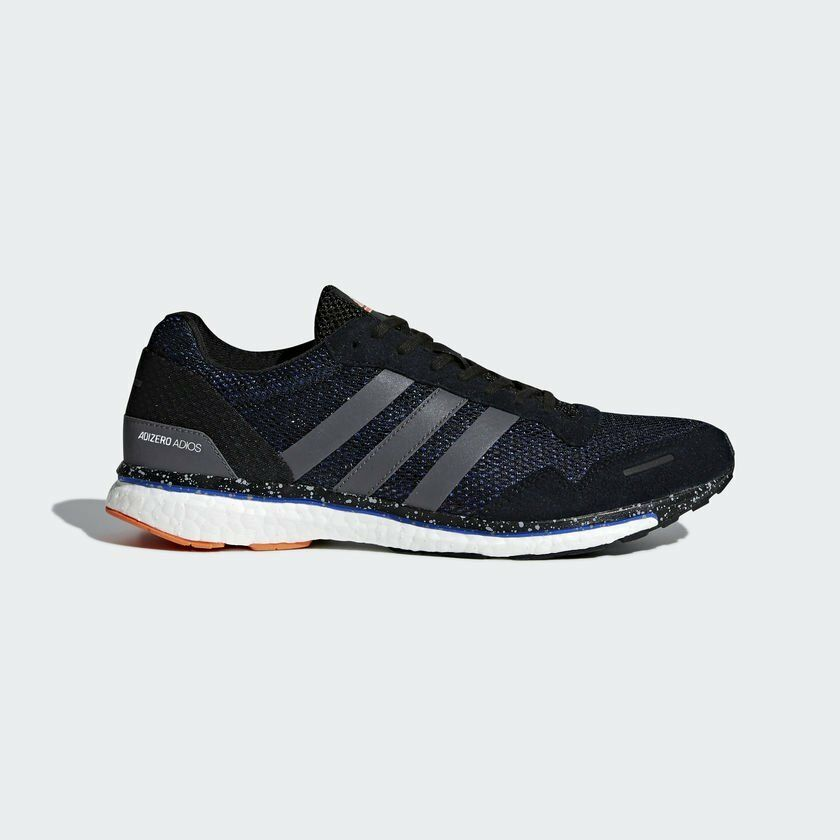 Adidas Men Adizero Adios M Running Shoes Black Navy BB6441 UK6.5-10.5 03'