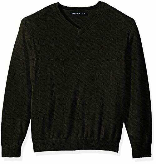 Nautica Mens Standard Long Sleeve Solid Classic V-Neck Sweater- Pick SZ Farbe.