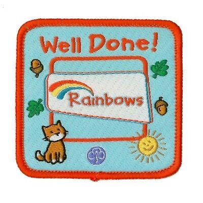 RAINBOW WELL DONE CLOTH BADGE RAINBOWS UNIFORM NEW