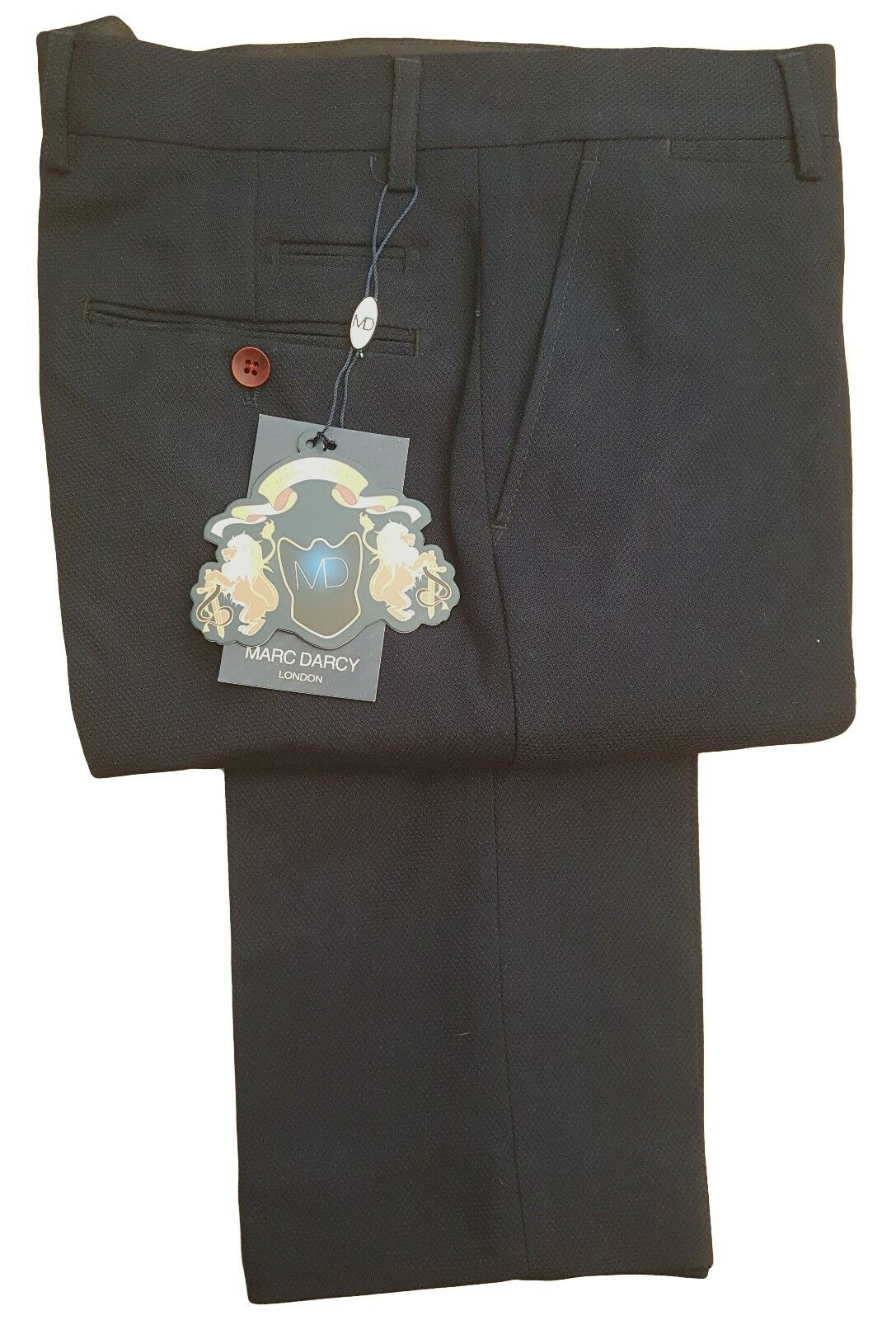 MENS MARC DARCY FORMAL SMART DRESSY TROUSER STYLE JD4 - NAVY blueE