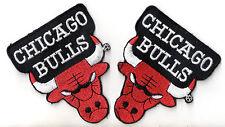 Chicago Bulls Patch Aufnäher 2 Stück USA Basketball NBA Air Jordan NEU