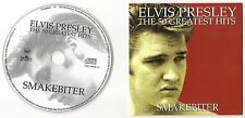 "ELVIS PRESLEY CD ""THE 50 GREATEST HITS - SMAKEBITER"" 2001 NORWAY PROMO 5 TRACKS"