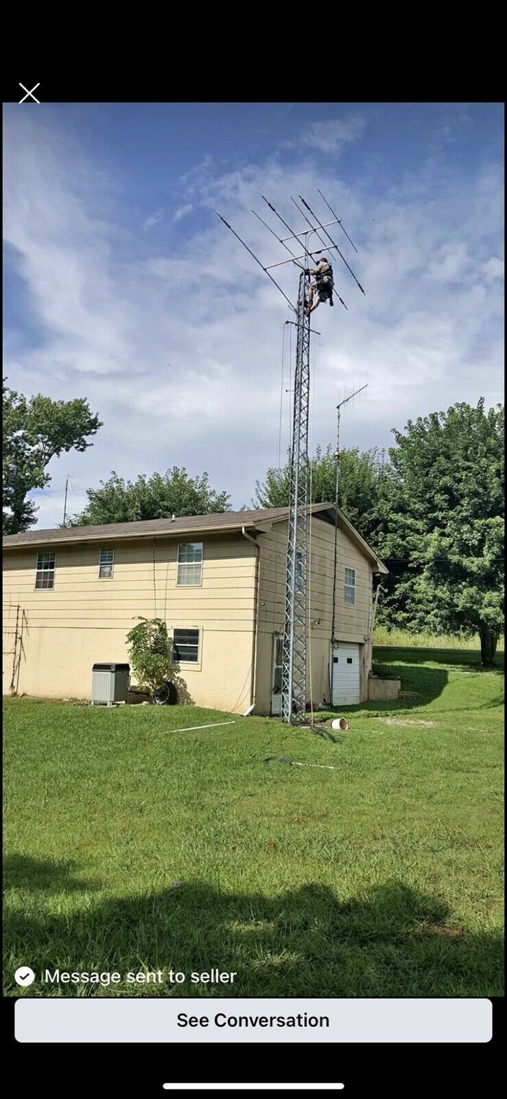 Rohn TBX 40' Self Standing Tower with bearing and rotor plate. Available Now for 325.00