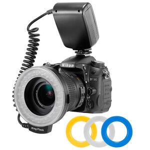 Macro-LED-Ring-Flash-Light-RF550-for-Nikon-Canon-EOS-70D-60D-80D-550D-SLR-Camera