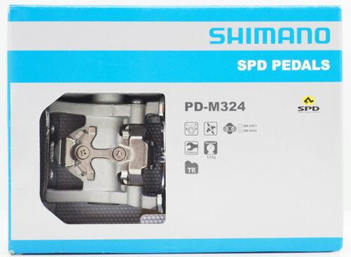 Shimano PD-M324 MTB Trekking SPD Pedals Set w// Cleat SM-SH56