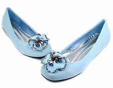 AGATHA-01 Slip On Casual Party Ballet Flat Office Oxford Women Shoes Lt,Blue 7.5