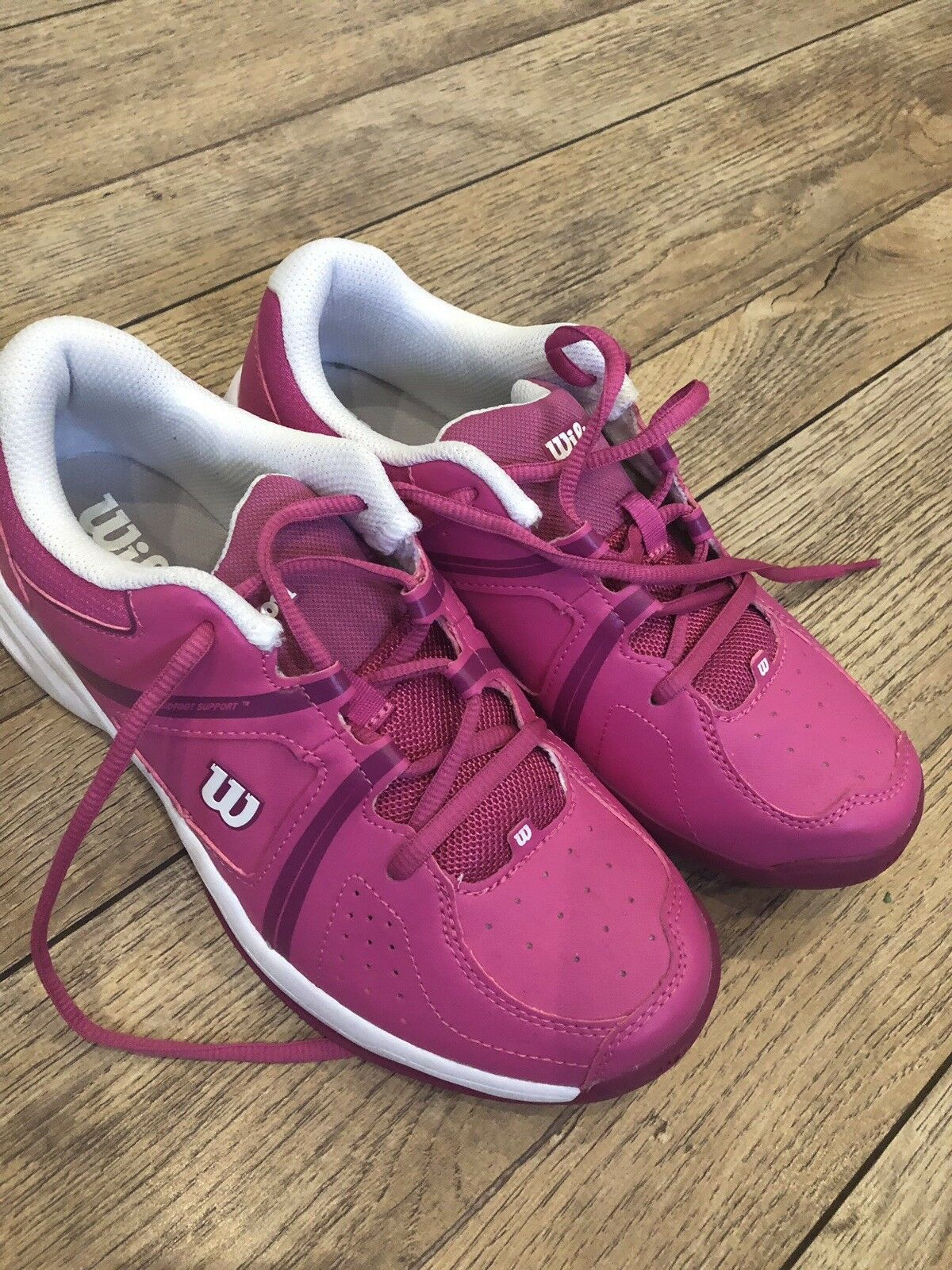 Pink Wilson ENVY JR Junior Tennis Trainers, Size 5.5, Literallly Worn Once