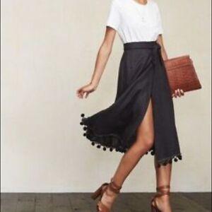 Zara Navy Linen Wrap Skirt Size MEDIUM /& LARGE BNWT