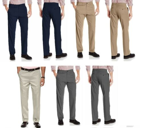 Haggar Clothing Men/'s Sustainable Stretch Chino Flat Front Straight Fit Pants
