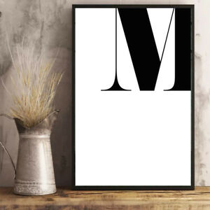 Personalised-Monogram-Initial-Print-Wall-Art-A4-Unframed-or-Framed
