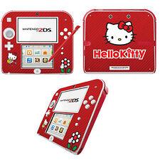 HELLO KITTY Vinile Autoadesivo per Nintendo 2DS-Rosso