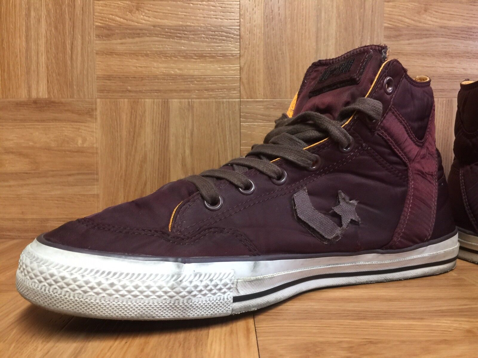 RARE? Converse Undefeated Ballistic Star Player Sz High Red Leather Boots Sz Player 12 0b0616
