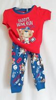 Boys 9-12 Months Daddy's Home Run Hero Bear Pajama Set The Children's Place