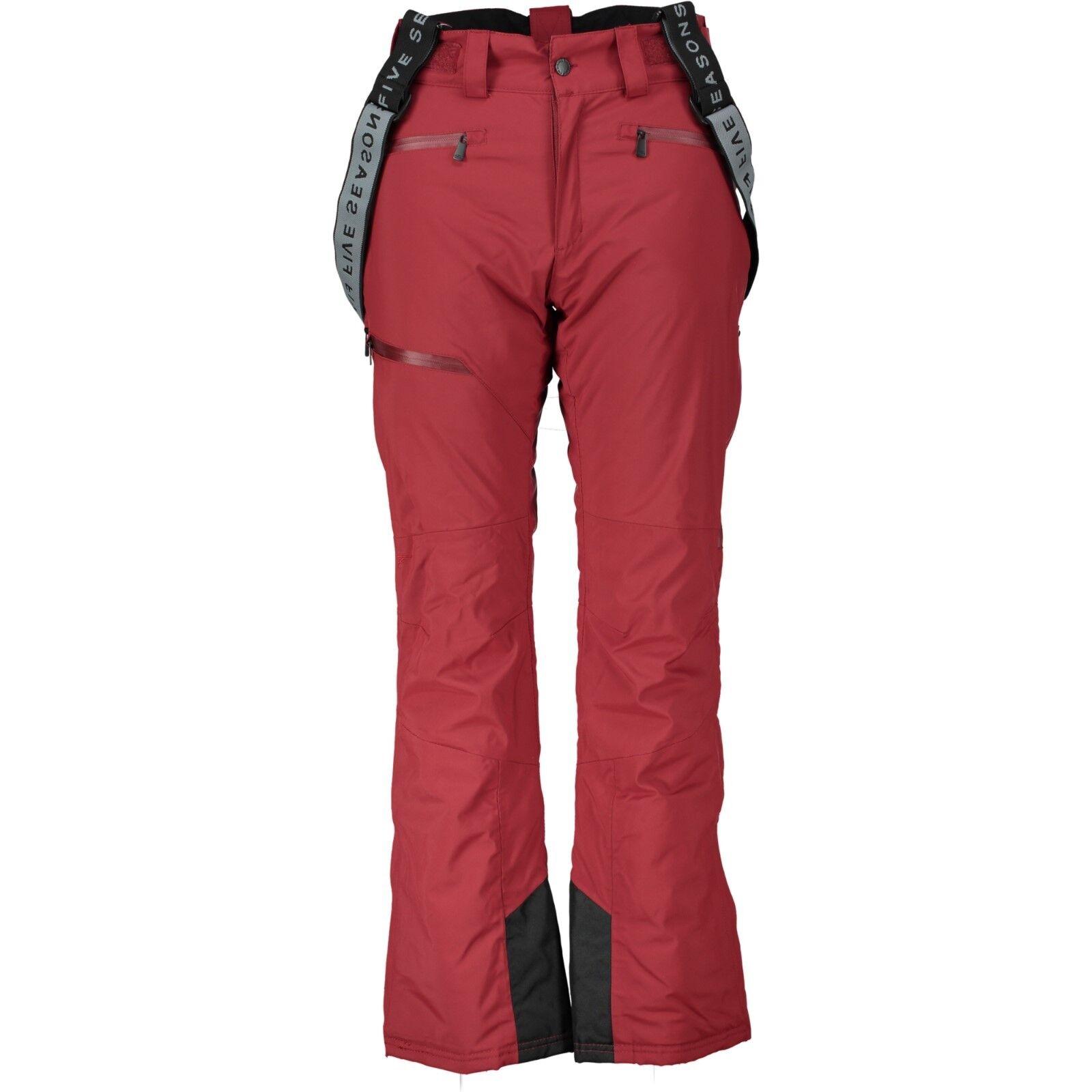 Five Seasons Esin Pantalones Mujer Pantalones Esquí para Mujer Forrado Rojo