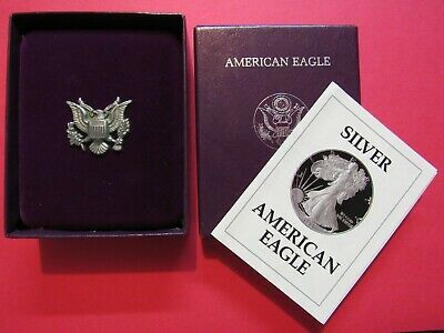 1989 American Silver Eagle Proof OGP Box With COA and WITHOUT COIN