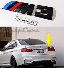 BMW M3 Sticker NERO Posteriore Serie 3 f31 e90 e46 M po Trunk Badge Logo Adesivo