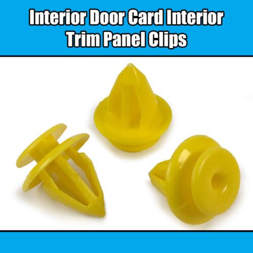 10x Clips For Land Rover Seat Interior Door Trim Panel Retainer Yellow Plastic