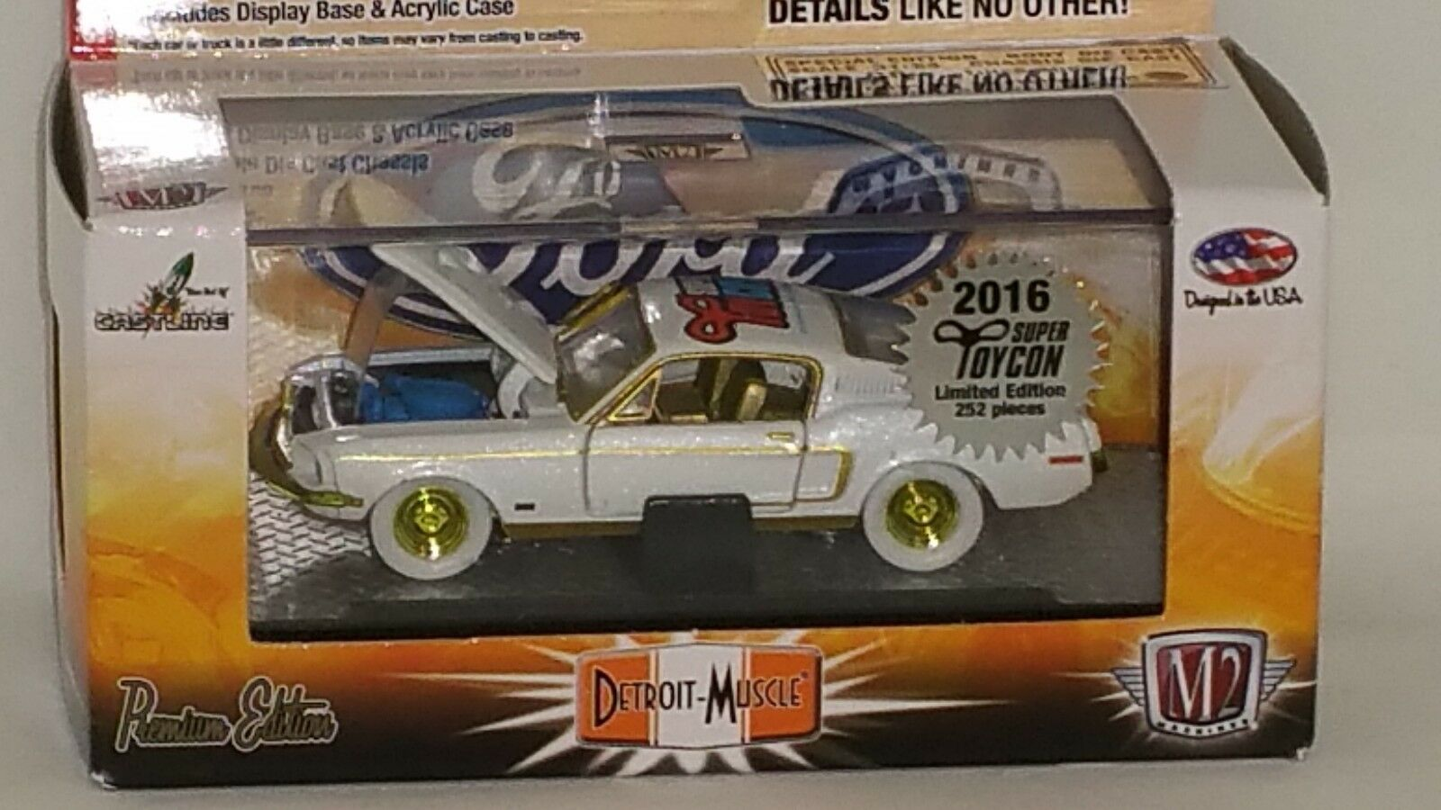2016 m2 super toycon übereinkommen chase auto 1968er ford mustang gt 302.1   252