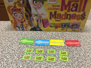 Mall-Madness-Milton-Bradley-Game-Replacement-8-food-tokens-4-cash-cards-2004