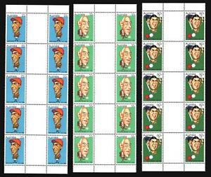 1981-AUSTRALIA-SPORTING-PERSONALITIES-GUTTER-STRIPS-22c-55c-amp-60c-MINT-PERFECT