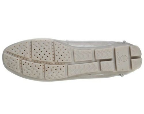 Geox Marva Women/'s UK 4 to 7.5 Grey Patent Leather Slip On Moccasin Loafer Shoes