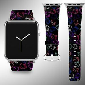 Hello Kitty Apple Watch Band 38 40 42 44 mm Fabric Leather