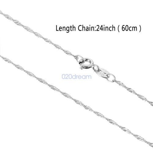 environ 60.96 cm Argent Sterling 925 Chaîne Longue Collier prix de gros 24 in italien Bijoux