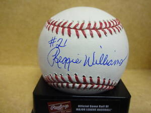 REGGIE WILLIAMS LOS ANGELES DODGERS SIGNED M.L. BASEBALL W/COA