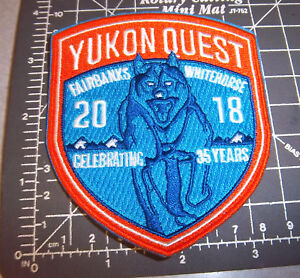 2018-Alaska-Yukon-Quest-1000-mile-Dog-Sled-Race-Embroidered-Patch-dog-team