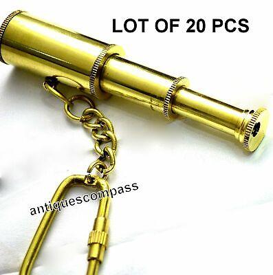 Nautical Brass Telescope Key Chain Antique Handmade Key Ring Lot Of 50 Pcs Gift