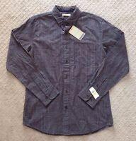 Men's G. H. Bass Gray Check Long Sleeve Shirt-size M