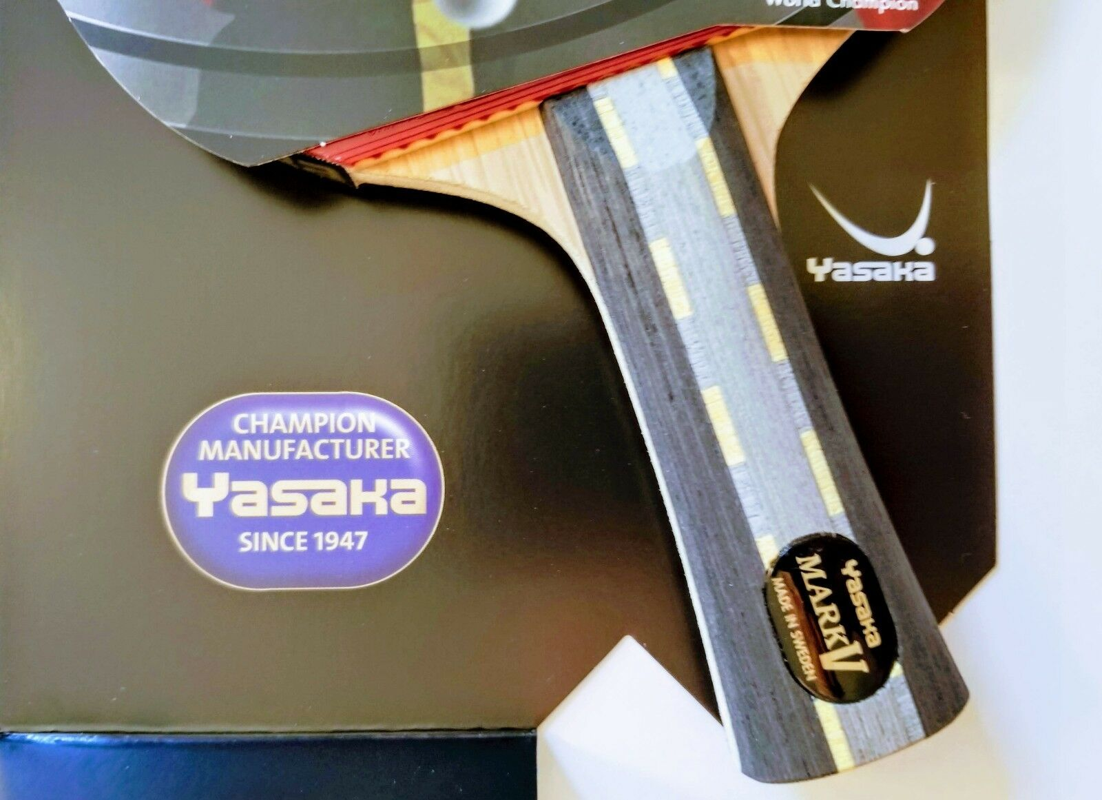 Yasaka MARK V Racket Flared Handle FL Champion Line for Table Tennis