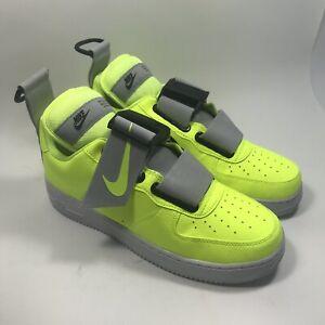 Nike Air Force 1 Utility Volt//White-Black Men/'s  Sz 10 Volt  AO1531-700