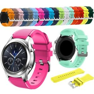 For Galaxy Watch 46MM Replacement Silicone Sports Band Strap Fitness Gym Luxury
