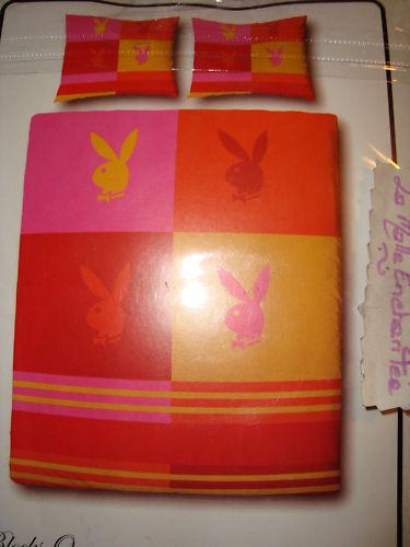 COPRIPIUMINO PLAYBOY 140X200 CM + FEDERA 65X65 CM ARANCIONE rosa rosa rosa NUOVO e8e5f4