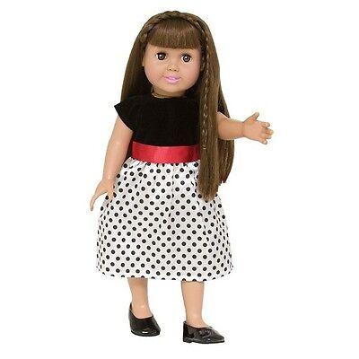 "Doll Clothes Fit 18/"" Dress Black White Polka Dot Fits American Girl Dolls"