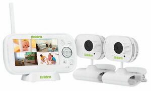 uniden bw3102 4 3 twin camera digital wireless baby monitor temp display ebay. Black Bedroom Furniture Sets. Home Design Ideas