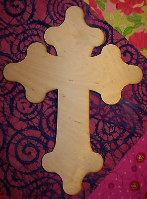 Quantity 10 UNFINISHED WOOD CROSS SpeedGerm style 11/'/' tall
