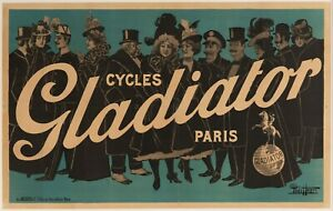Original-Poster-Paolo-Henri-Cycles-Gladiator-Paris-Bicycle-Polo-1900