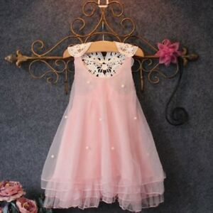 Bebe-Filles-Flower-Robe-Kids-Princesse-Tulle-Tutu-Lace-Dress-Pageant-Party-2-7Y